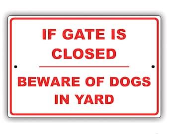 Beware of Dogs Aluminum Sign
