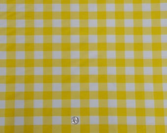 Delicieux 60 X 126 Inch Rectangular Yellow And White Checkered Tablecloth Polyester    Wedding Tablecloth