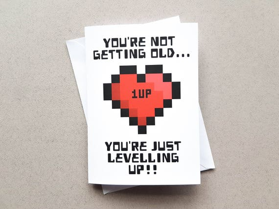 Gamer birthday card geeky birthday card youre not bookmarktalkfo Images