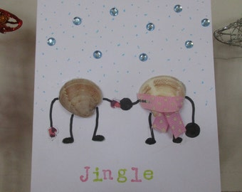Homemade Christmas card festive boy or girl funny pun