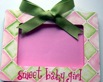 Personalized Picture Frame Girls Room, Decor,Shower Gift, Baby Girl Frame,New baby Custom Colors