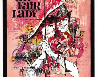 My Fair Lady (1964) Audrey Hepburn Rex Harrison movie poster reprint 19x12.5 inches