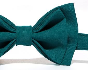 Teal Bow Tie & Teal Pocket Square for Baby Toddler Boy Men