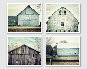 Farmhouse Decor | Modern Farmhouse | Set of 4 Prints Prints or Canvas | Turquoise Home Decor | Rustic Home Decor | Mother's Day Gifts