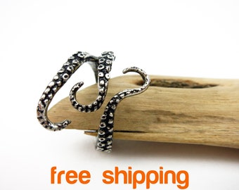 Octopus Ring Octopus Tentacle Ring Octopus Engagement Ring Save Our Oceans Octopus Ring