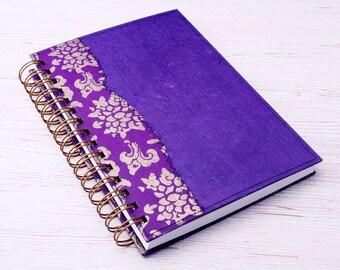 Blank Purple Notebook / purple journal / eco friendly recycled notebook / sketchbook / unlined notebook / art journal / travel journal