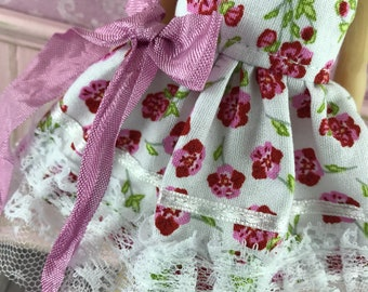 Blythe Dress - Rose Floral with Pink Bow
