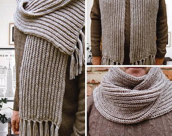 Gift-for-Men's Scarf Knit Scarf Wool Gift christmas wife Winter scarf chunky scarf Large scarf Womens scarves Christmas gifts ideas-for-him