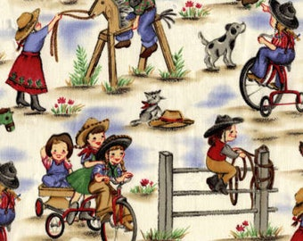 Cowgirl TWIN Shopping Cart Cover, country, cowgirl, vintage, Michael miller, restaurant high chair, buggy cover, girl shopping cover