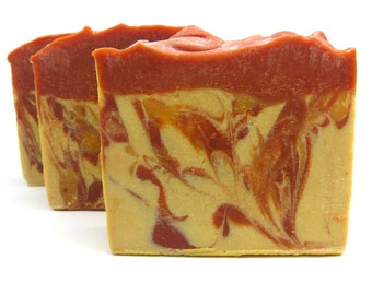 Natural Soap / Handmade Soap / Cold Process Soap / Orange Scent / Orange Creamsicle Soap