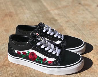 Custom Embroidered 90s Themed Vans