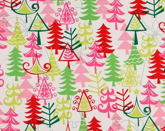 85011 - Michael Miller  -  Yule trees in Santa color  CX3637    1/2  yard