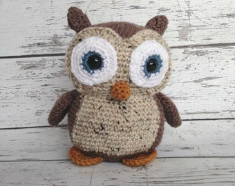 Hooty the Owl, Crochet Owl Stuffed Animal, Owl Amigurumi, Plush Animal, Made to Order