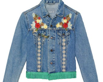 """Available to order women's jacket """"The bucolic"""" (personalization with the name of your choice)"""