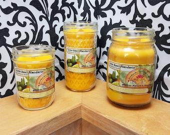 Lime Basil Mandarin - 100% Soy Wood Wick Candles