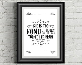 Printable Books Quote - Louisa May Alcott