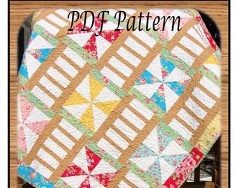 PDF  Quilt Pattern Pinwheels & Ladders Carlene Westberg Designs