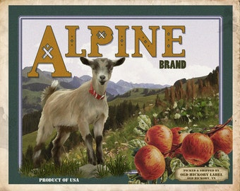 Alpine Goat Small Wooden Crate