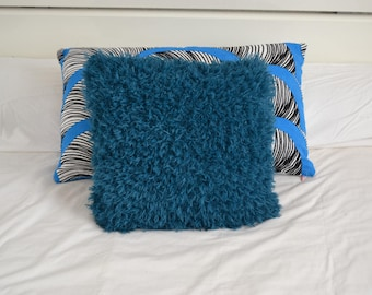 hairy wool knit pillow