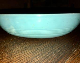 Vintage Homer Laughlin Harlequin Individual Salad Bowl Turquoise