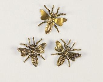 Brass Bee Embellishment - Bin# 39