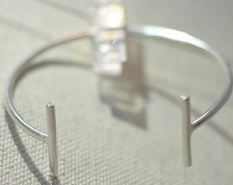 Pillars of Strength Bangle (Sterling Silver/14K Gold Filled)