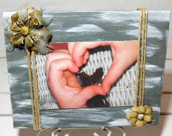 Picture Frame/Picture on Wood/Wood Picture Frame/Frames/Wedding Gift/Shower Gift/Birthday Gift