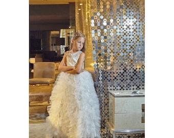 Princess Dress, Wedding Dress, Bridesmaid Dress, Christening Dress, Birthday Dress, Party Dress, Flower Girl Dress, Party Dress, Ivory Dress