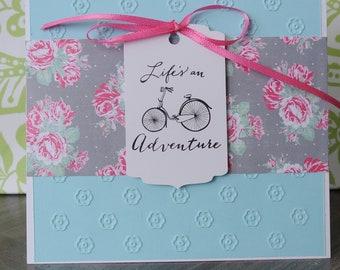 Life's An Adventure Shabby Chic Card