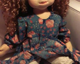 Waldorf inspired doll,  natural fiber art doll, handmade, 20 inch/50 cm, OOAKWaldorf p