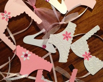 Pink Lingerie Party Decorations, Pretty in Pink Bridal Shower, Lingerie Party, Panty Banner