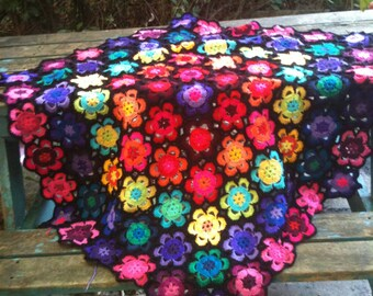 wow flower blanket -pattern so you can make it yourself