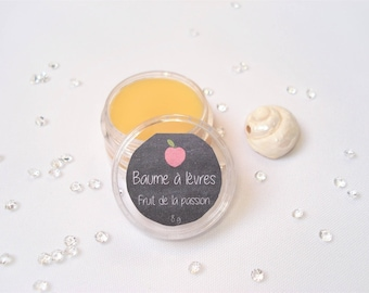 Lip balm 10 ml - 100% natural shea butter - passion Fruit is 8 g
