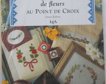 CROSS stitch wreaths and GARLANDS of flowers book