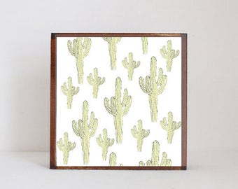cacti print southwestern nursery art , cactus nursery art nursery prints, cacti nursery decor- kids playroom- southwest- redtilestudio