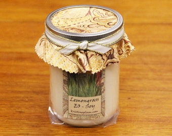 Lemongrass Essential Oil candle in soy wax with Cotton wick