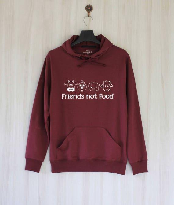 Friends Not Food Hoodie Or Sweatshirt Piggie Hoodie Vegan Sweatshirt Vegan Hoodie Vegan Clothing Vegan Sweater Vegan Hoodie Vegan Sweatshirt tVIitaeOhP