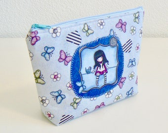 cosmetic bag, makeup bag, zipper pouch, for her, present, made with love, handmade gift, patchwork cosmetic bag