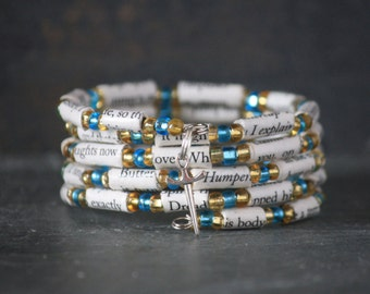The Princess Bride, The Princess Bride gift, book page bracelet, The Princess Bride bracelet, recycled book bracelet, book lover gift