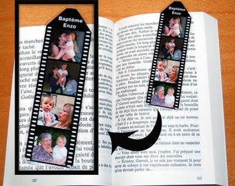 Mini bookmark personalized wrap 4 sided photos