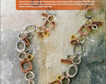 Tutorial Forged Fashion Necklace, Hammered Links, Circles, Rectangles