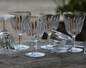 6 Crystal water glasses set from Baccarat model Cassino