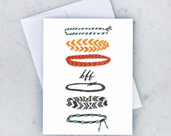 BFF Bracelets Greeting Card