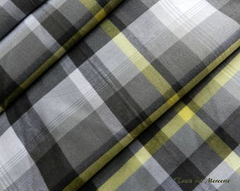 Fancy yellow/grey gingham fabric