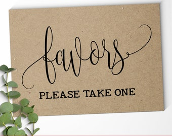 Favors Sign wedding signs party favor sign reception sign black and white rustic printable sign Instant download SG03 D101