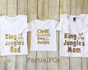 King of the Jungle's DAD, King of the Jungle's MOM | Brother | Sister | ONE handsome King of the Jungle | Safari first birthday | Zoo |