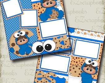 Cookies - 2 Premade Scrapbook Pages - EZ Layout 449