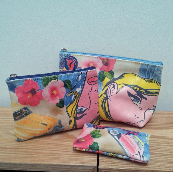 Pop Art Leather Purse Set