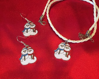 Snow Buddies Earring & Necklace set BFF Earring/Necklace set