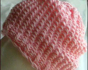 Adult Knit Hat, Cotton Candy Pink